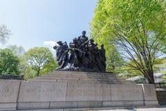 Paysage de Central Park au ressort dans NYC Photo libre de droits