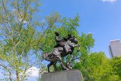 Paysage de Central Park au ressort dans NYC Images libres de droits
