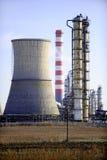 Paysage de centrale pétrochimique image stock