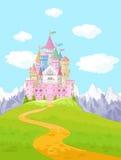 Paysage de château de conte de fées Photo stock