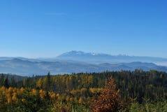 Paysage de chaîne de montagne Photos libres de droits