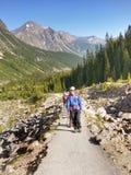Paysage de chaîne de montagne, parc national, Canada Photographie stock libre de droits