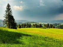 Paysage de chaîne de Pieniny en Pologne du sud image stock