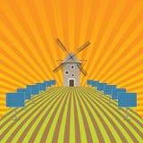 Paysage de champ d'agriculture et ECO Images libres de droits