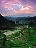 Paysage de champ dans le comté de Xinhua Images libres de droits