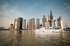 Paysage de Changhaï à bord Photos libres de droits