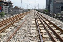 Paysage de chemin de fer de la Chine Photos stock