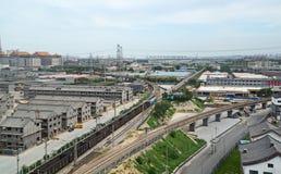 Paysage de chemin de fer de la Chine Photo libre de droits