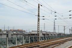 Paysage de chemin de fer de la Chine Images stock