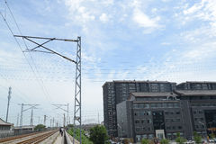 Paysage de chemin de fer de la Chine Photographie stock libre de droits