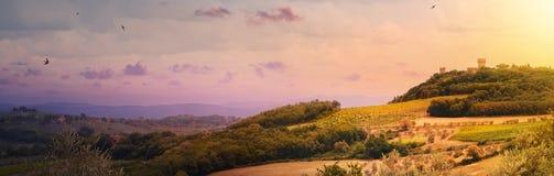 paysage de chianti de région ; l'Italie ; la Toscane ; image stock