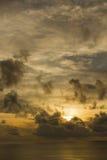Paysage de ciel nuageux et de mer Photos libres de droits