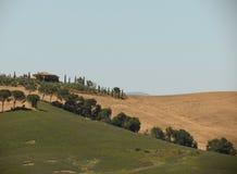 Paysage de collines de Chiantishire photos stock