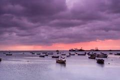 Paysage de compartiment de Qingdao Jiaozhou Photo libre de droits