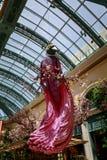 Paysage de conservatoire d'hôtel de Bellagio et de jardins botaniques à Las Vegas Images libres de droits