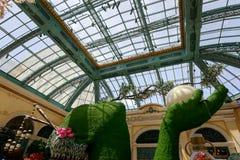 Paysage de conservatoire d'hôtel de Bellagio et de jardins botaniques à Las Vegas Photographie stock