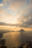 Paysage de Costa Blanca Photographie stock