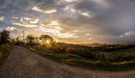 Paysage de Costa Rica Photos libres de droits