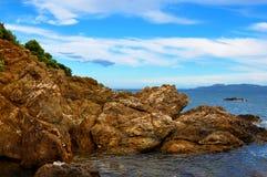 Paysage de Cote d'Azur Images libres de droits
