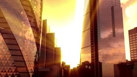 Paysage de coucher du soleil de Londres clips vidéos