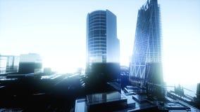 Paysage de coucher du soleil de Londres banque de vidéos