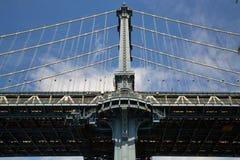Paysage de couleur de pont de Manhattan Photographie stock libre de droits