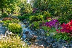 Paysage 2 de courant de jardin photos libres de droits