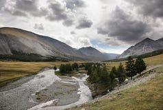 Paysage de courant de rivière de montagne Photos stock