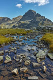 Paysage de crête d'Orlovets des lacs Elenski, montagne de Rila Image stock
