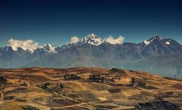 Paysage de Cusco Pérou Vue sur la crête photographie stock libre de droits