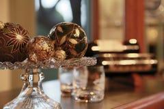 Paysage de décoration de boule d'intérieur Photographie stock libre de droits