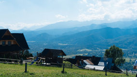 Paysage de dépendance et de montagne dans Zakopane Photographie stock