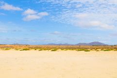 Paysage de désert au Cap Vert, Afrique Photo libre de droits