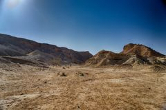 Paysage de désert dans des sud de l'Israël Image stock