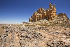 Paysage de désert dans la région sauvage de Cederberg, Afrique du Sud Photographie stock