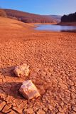 Paysage de désert dans Mavrovo photos stock