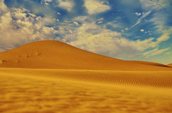Paysage de désert de fond Photographie stock