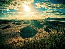 Paysage de désert des Canaries images stock