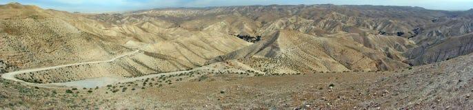 Paysage de désert du Néguev Image stock