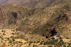 Paysage de désert en montagnes d'Antiatlas Images libres de droits