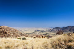 Paysage de désert en Namibie Image stock