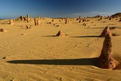 Paysage de désert de sommets Parc national de Nambung cervantes Australie occidentale l'australie image stock