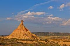Paysage de désert sous les couleurs de coucher du soleil Photo libre de droits
