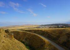 Paysage de détente de vue de ville de Gobustan image libre de droits