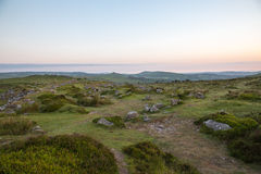 Paysage de Dartmoor Photo libre de droits