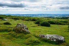 Paysage de Dartmoor, Angleterre - panorama Image libre de droits