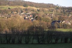Paysage de Derbyshire Bamford photo stock