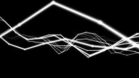 Paysage de Digital Lignes génératives blanches coulant loin banque de vidéos