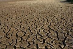 Paysage de fente de terre sèche Photo stock