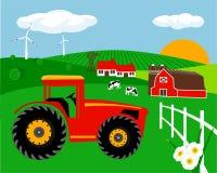 Paysage de ferme Photo libre de droits
